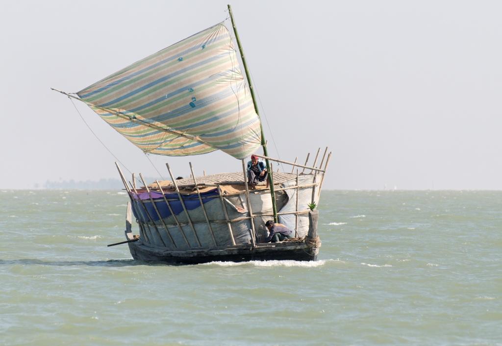Billowing sail