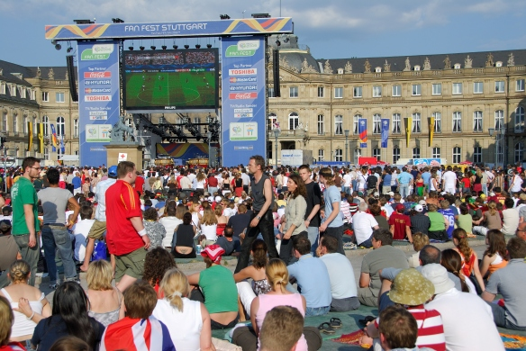 Watching the World Cup at the Schlossplatz