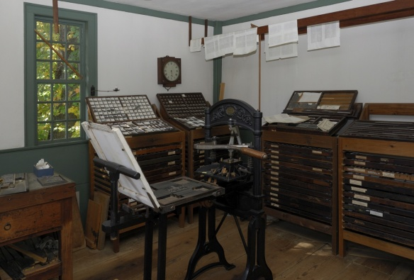 Printing Office Worcester, Massachusetts, c. 1780