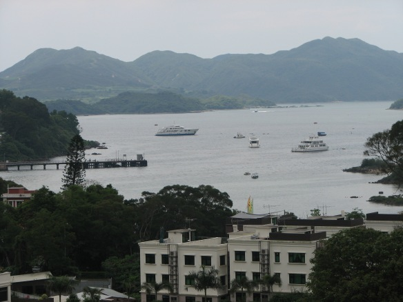 The view from my sister's apartment in China's New Territories