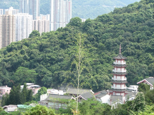 This pagoda appears on the HK$100 banknote